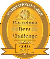LA SALVE Lager auténtica Medalla de oro Barcelona Beer Challenge 2017