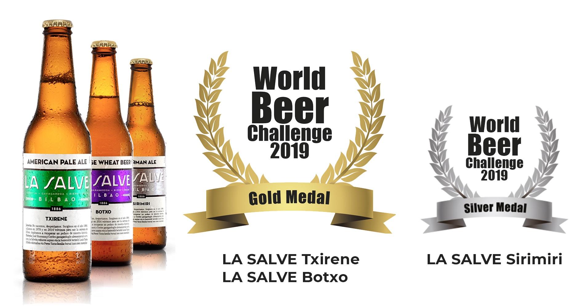 Cerveza La Salve Bilbao - Premios World Beer Challenge