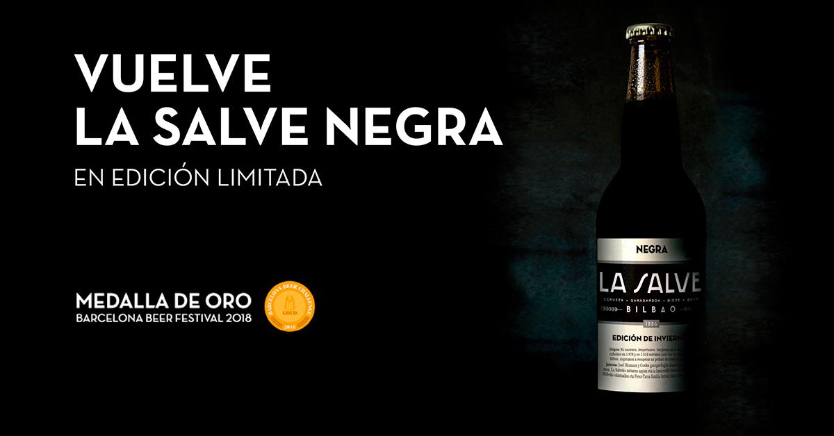Cervea negra LA SALVE Presentación edición limitada - La Salve Bilbao