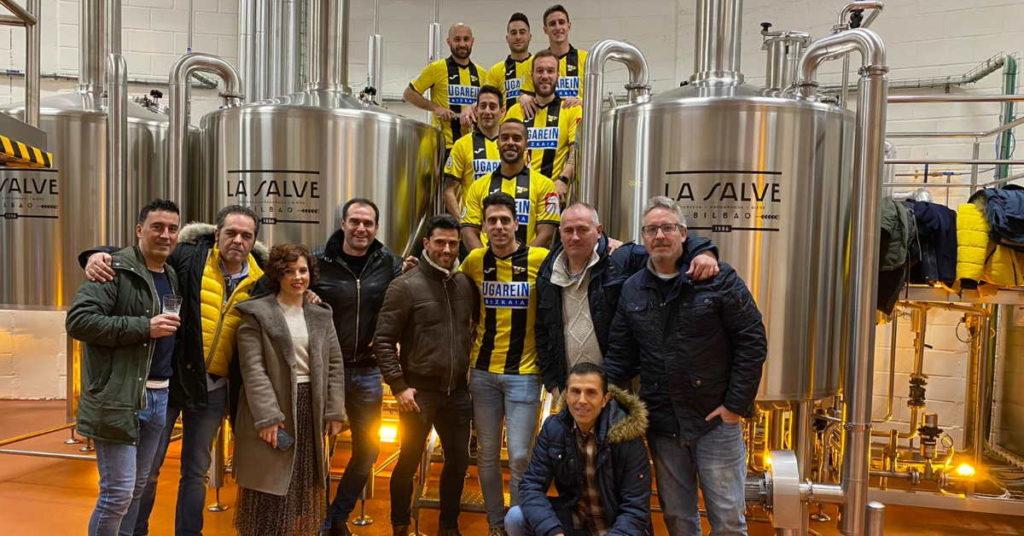 Cervezas LA SALVE y Club Portugalete, han renovado un acuerdo de colaboración - LA SALVE Bilbao