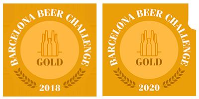 Cerveza premiada Barcelona Beer Challenge 2018-2020 - Gold