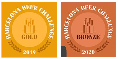 Cerveza premiada Barcelona Beer Challenge 2019-2020 - Gold-bronze