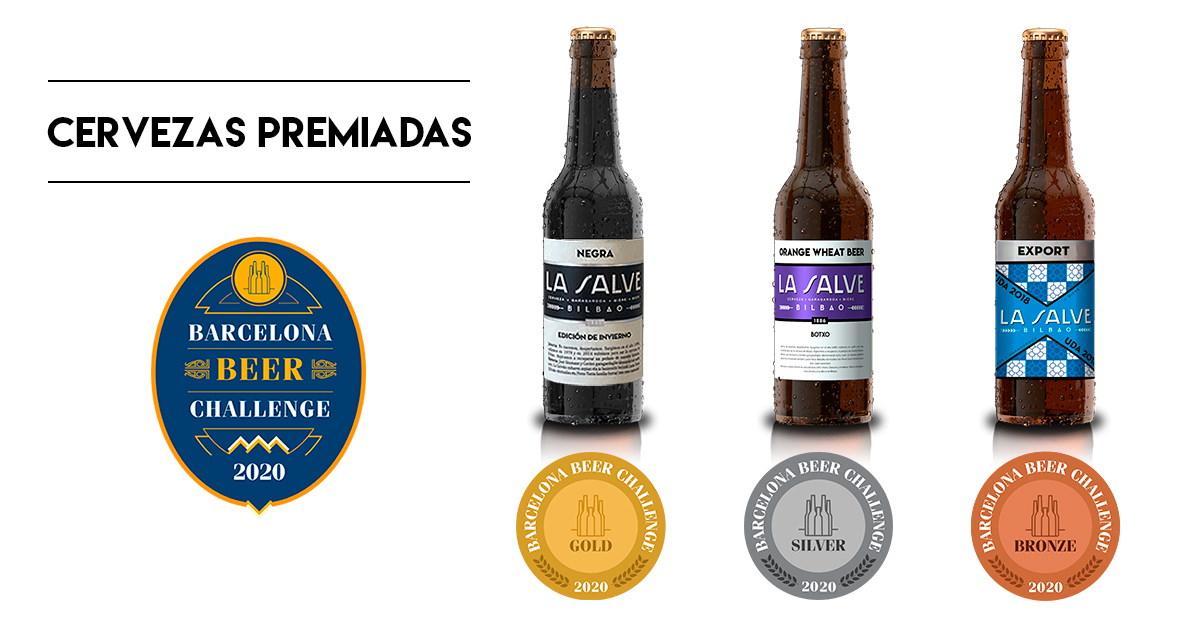 Barcelona Beer Challenge 2020 premia 3 cerevezas de LA SALVE - La Salve Bilbao