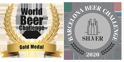 """Medalla de Oro en los World Beer Challenge 2019, los """"Oscars de la Cerveza""""y medalla de Plata en el Barcelona Beer Challenge 2020"""
