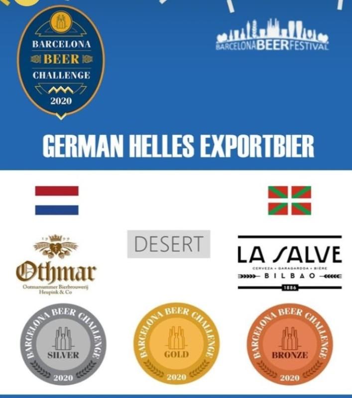 LA SALVE Export, Medalla de Bronce en Barcelona Beer Challenge 2020 - LA SALVE Bilbao