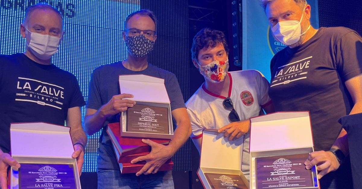 LA SALVE recoge 3 medallas en el barcelona Beer Challenge 2021 - LA SALVE Bilbao